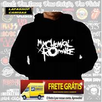 Blusa Moletom My Chemical Romnce Bolso Capuz Banda Camiseta