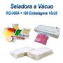 Seladora A Vácuo + 100 Embalagens A Vácuo