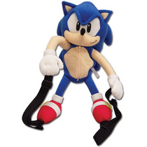 Mochila Pelúcia Sonic 15