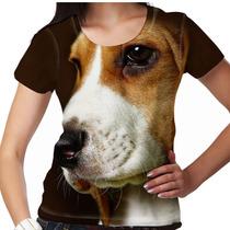 Camiseta Cachorro Beagle Feminina