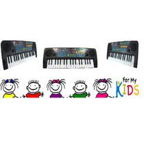 Teclado Piano Musical Infantil Sons Eletronicos Mq 004 Fm