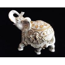 Elefante Branco Decoração 18alt X 22cm Nacional