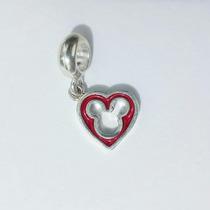 Berloque Coração Mickey Prata 925