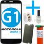 Tela Vidro Lente Moto-g 1 G1 + Cola Uv + Fio Aço + Removedor