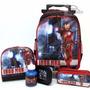 Kit Mochila Homem De Ferro Iron Man Vingadores G + Lancheira