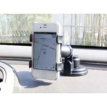 Suporte Universal De Gps/celular Para Carro Base Com Silicon