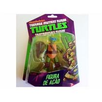 Boneco Leonardo Tartarugas Ninja Nickelodeon Multikids 12cm