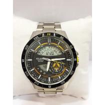 Relógio Masculino Original Atlantis Ponteiros Com Digital