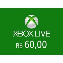Crédito Xbox Live Gold R$ 60 - Exclusivo Live Brasileira