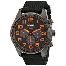 Relógio Seiko Solar Sport Ssc233 Cronografo Black