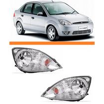Farol Fiesta Hatch Sedan 2003 2004 2005 2006 2007 Par