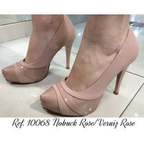 Sapato De Salto Alto Feminino Meia Pata Nude Numero 40