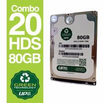 Combo 20 Hds 80gb Green Technology Up2tech Sata 2.5
