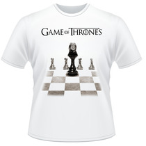 Camiseta Game Of Thrones Trono Xadrez Frente Verso Camisa