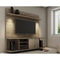Rack Bancada Tv Led Lcd C/painel 1,8m Rustico Alto Padrão12x