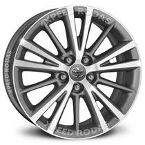 Roda Corolla Xei 2016 Krmai R64 Aro 16 - Grafite Diamantado