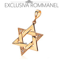 Rommanel Pingente Estrela De Salomao Com Zirconias 541390