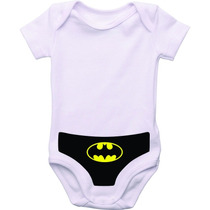 Body Infantil Personalizado Sunga Herois Batman Super Man