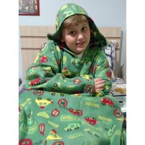 Cobertor Com Mangas Com Capuz - Infantil - Lançamento