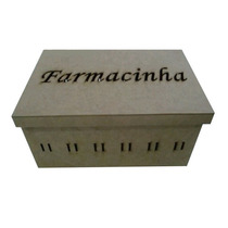 Pacotão 10 Farmacinha Passa Fita+3 Cesto C/trio De Pote Mdf
