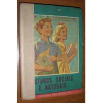 Livro Escolar Didático Antigo Anos 50 Vintage Retrô Raro
