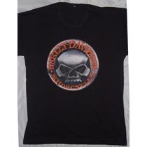 Camisa Camiseta Blusa Customizada Harley Davidson Skull Mod2