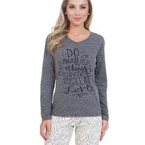 Pijama De Inverno Feminino Adulto - Frio