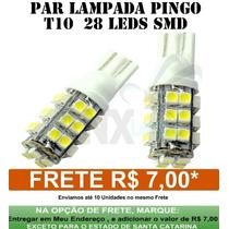 Lampada Led Automotiva - Par De Lampada Pingo 28 Leds T-10