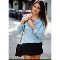 Camisa Feminina Jeans Importada Pronta Entrega Frete Gratis