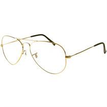 Armação Óculos De Grau Aviador Ray Ban Unissex Dourado