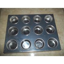 Forma Para Mini Cupcake 12 Cavidades Em Alumínio