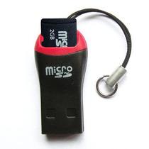 Leitor + Cartão De Memória Micro Sd Pen Drive 2gb
