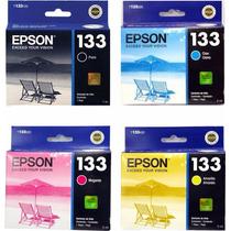 Cartuchos Originais Epson 133 (kit Com 4 Cores) Novo