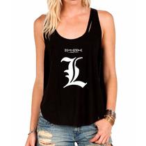 Regata Death Note Camiseta Regata Feminina