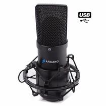 Microfone Usb Arcano Para Estúdio Black Usb 01 Bku-01