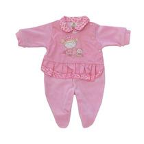 Macacão Infantil Feminino Plush Rosa