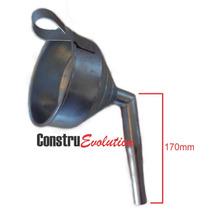 Funil D Ferro Metal Curvo P Trocador Oleo Posto Combustivel