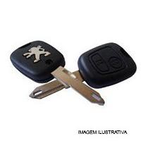 Chave Canivete Controle Alarme Mod. Peugeot - 02 Botoes (cap