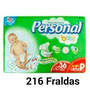 Caixa Fralda Personal Baby Jumbo P Com 216 Fraldas