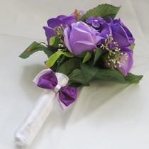 Buquê Casamento/noiva Para Daminhas Rosas Lilás Ou Rosa