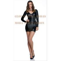 Vestido Em Cirrê Decote V Confira Outros Modelos No Anúncio