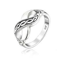 Bling Jewelry De Prata De Triquetra Nó Celta Infinito Anel