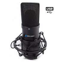 Microfone Usb Arcano Para Estúdio Bku-01 Usb + 01 Pedestal