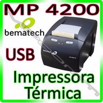 Impressora Não Fiscal Térmica Bematech Mp4200 Black - U S B