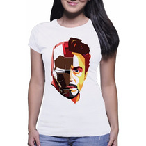 Camiseta Feminina Iron Man Tony Stark Homem De Ferro Filme