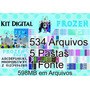 Kit Digital Frozen Decoração Personalizados Festa Infantil