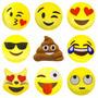 Almofada Tecido Poliester Emoji 34cm X 34cm