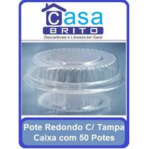 Embalagem Pote Com Tampa Redondo Doce Bolo 200ml C/50