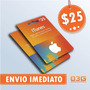Turbine Seu Ipod/iphone! Itunes Gift Card De 25 Dólares Usa