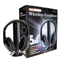 Fone Wireless Torre Headphone Sem Fio Fm, Mp3